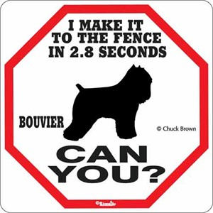 Bouvier 2.8 Seconds Sign