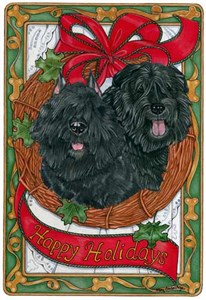 Bouvier Des Flandres Christmas Cards