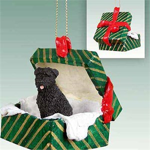Bouvier Des Flandres Gift Box Christmas Ornament