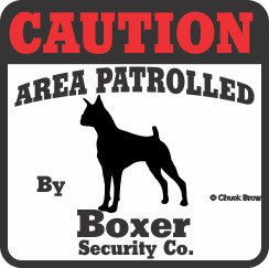 Boxer Bumper Sticker Caution
