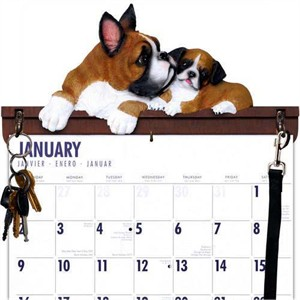 Boxer Calendar Caddy