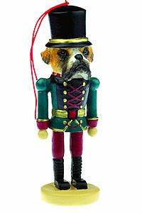 Boxer Ornament Nutcracker