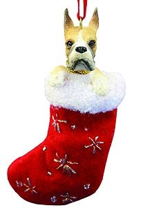 Boxer Christmas Stocking Ornament