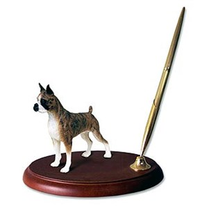 Boxer Pen Holder (Brindle)