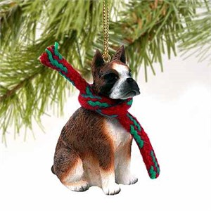 Boxer Tiny One Christmas Ornament Brindle