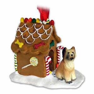 Briard Gingerbread House Christmas Ornament