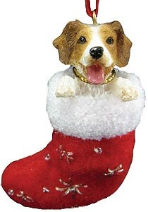 Brittany Christmas Stocking Ornament