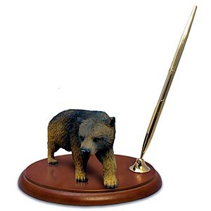 Brown Bear Pen Holder