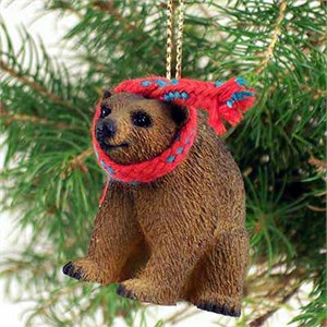 Brown Bear Tiny One Christmas Ornament
