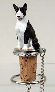 Bull Terrier Bottle Stopper (Brindle)
