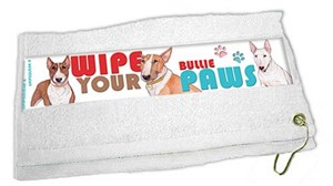Bull Terrier Paw Wipe Towel