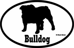Bulldog Bumper Sticker Euro