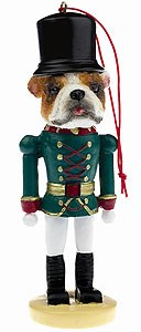 Bulldog Ornament Nutcracker