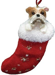 Bulldog Christmas Stocking Ornament