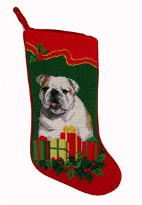 Bulldog Christmas Stocking Puppy