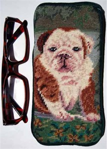 Bulldog Eyeglass Case Puppy