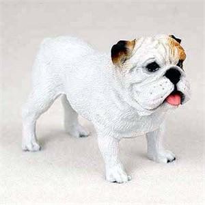 Bulldog Figurine White