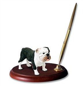 Bulldog Pen Holder (Brindle)