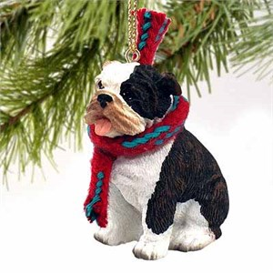 Bulldog Tiny One Christmas Ornament Brindle
