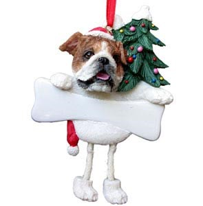 Bulldog Christmas Tree Ornament - Personalize