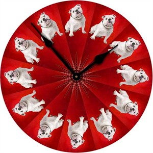 Bulldog Wall Clock