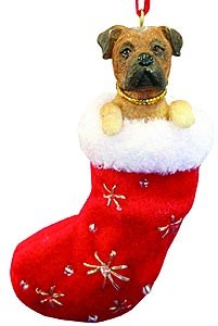 Bullmastiff Christmas Stocking Ornament