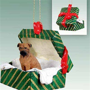 Bullmastiff Gift Box Christmas Ornament