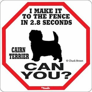 Cairn Terrier 2.8 Seconds Sign