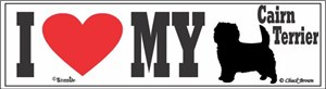 Cairn Terrier Bumper Sticker I Love My