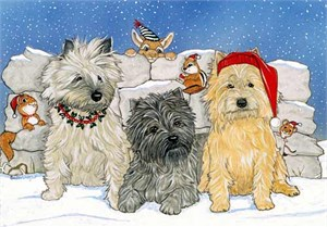 Cairn Terrier Christmas Cards