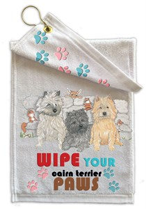 Cairn Terrier Paw Wipe Towel