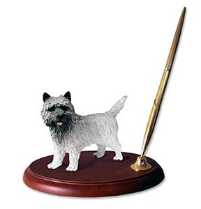 Cairn Terrier Pen Holder (Gray)