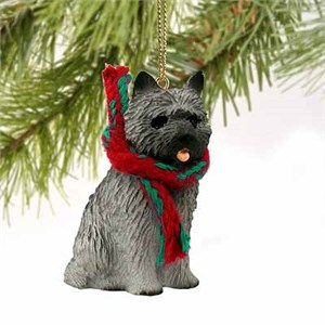 Cairn Terrier Tiny One Christmas Ornament Gray