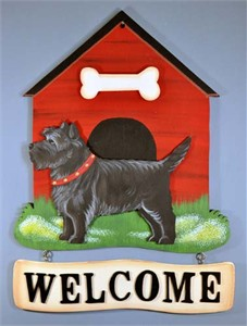 Cairn Terrier Welcome Sign