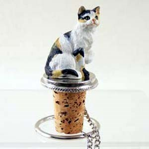 Calico Cat Bottle Stopper