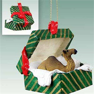 Camel Gift Box Christmas Ornament Dromedary