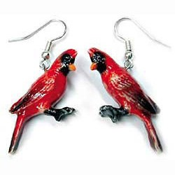 Cardinal Earrings True to Life