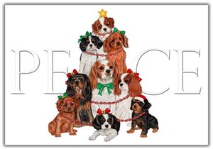Cavalier King Charles Christmas Cards Peace