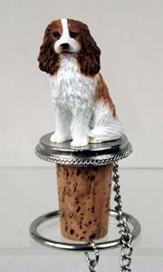 Cavalier King Charles Bottle Stopper (Brown & White)