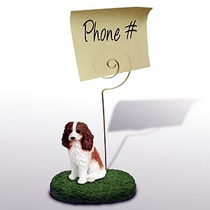 Cavalier King Charles Note Holder (Brown & White)