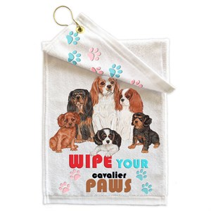 Cavalier King Charles Spaniel Paw Wipe Towel