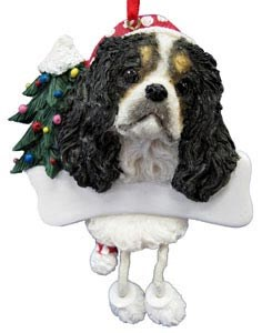 Cavalier King Charles Christmas Tree Ornament - Personalize (Tri Color)