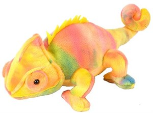 Colorful Chameleon Plush Stuffed Animal 8""