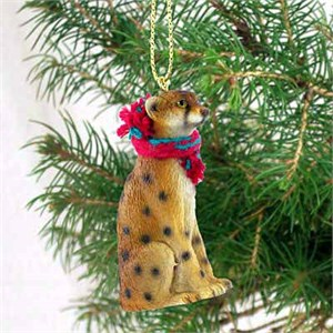 Cheetah Tiny One Christmas Ornament