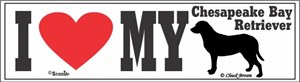 Chesapeake Bay Retriever Bumper Sticker I Love My