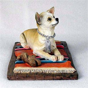 Chihuahua Figurine White-Tan MyDog