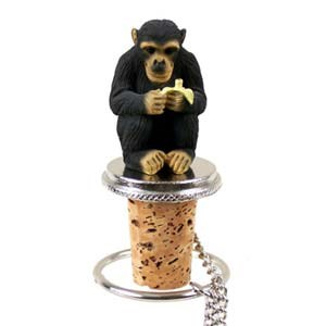 Chimpanzee Bottle Stopper