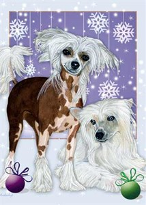 Chinese Crested Christmas Cards
