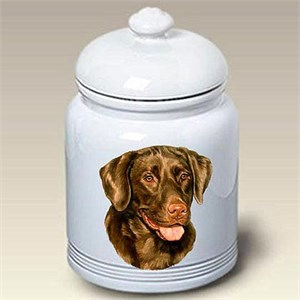 Chocolate Lab Treat Jar