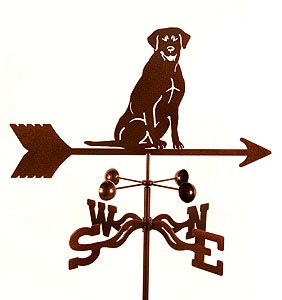 Chocolate Lab Weathervane